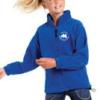 Royal blue full zip outdoor fleece-0