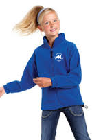 Royal blue full zip outdoor fleece-0