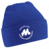 Royal blue cuffed beanie hat-483