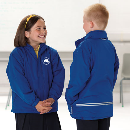 Royal blue reversible school jacket -0